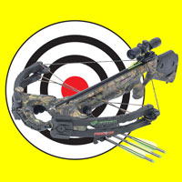 crossbow on target